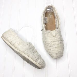 Toms | Cream Sweater Slip Ons